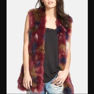 WAYF faux fur vest